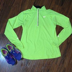 Nike Sweaters - Lime Green Nike Half Zip